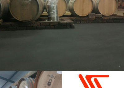 Black non-slip floor for Villiera wines