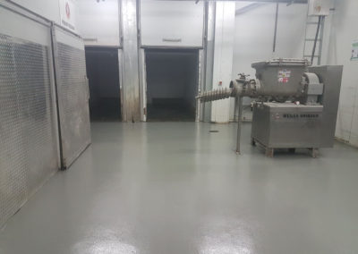Famous brands meat processing plant floor