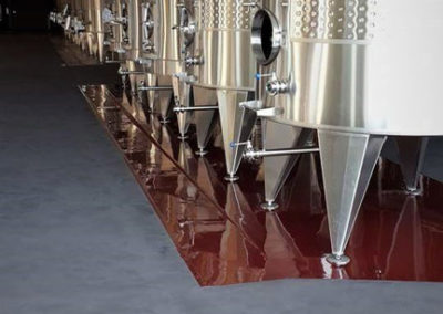 Wine cellar epoxy floor application for Glenelly