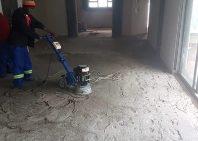 Diamond grinding prepwork before epoxy floor application