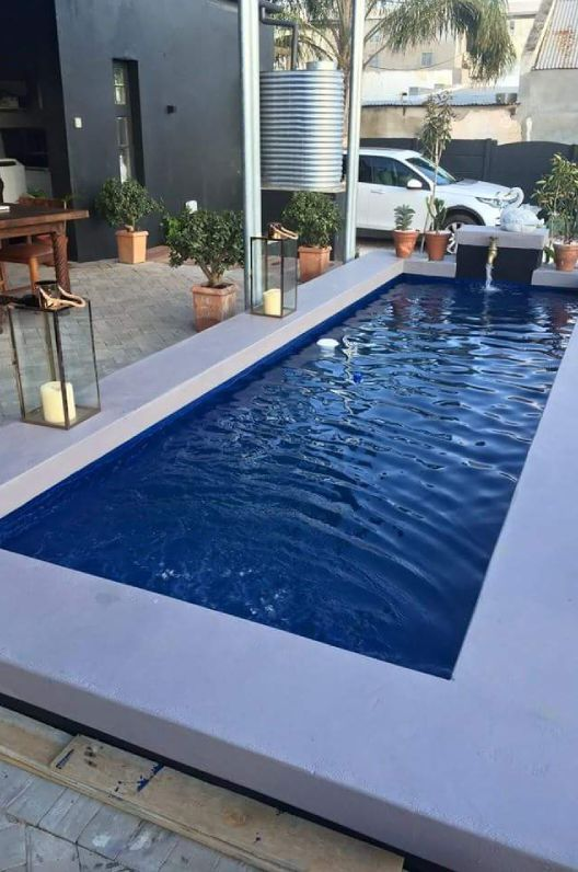 Swimming pool done with Steenvas Epoxy