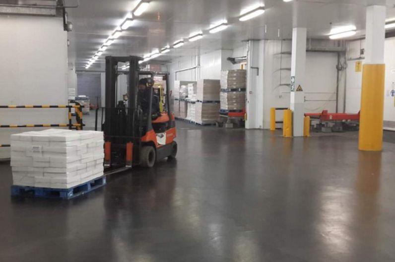 Warehouse Floor I&J Titanium with Clear Coat