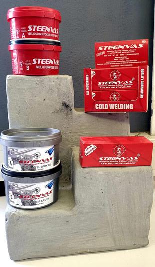STEENVAS Epoxy Adhesives Cold Weld Range